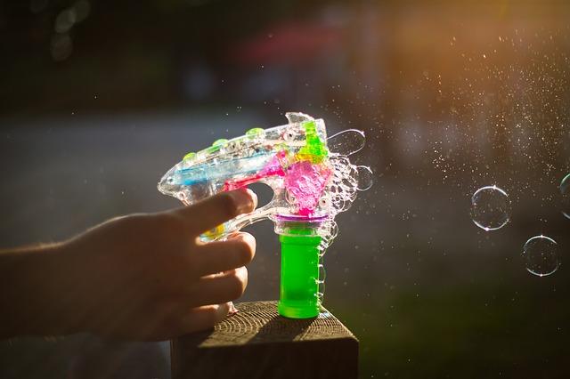 rodzaje baniek mydlanych dla dzieci